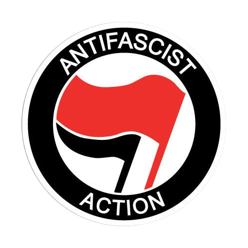 Antifa Antifascist Decal Sticker Pegatina Laptop Car Antifaschistische Aktion Cover Scratches Decora