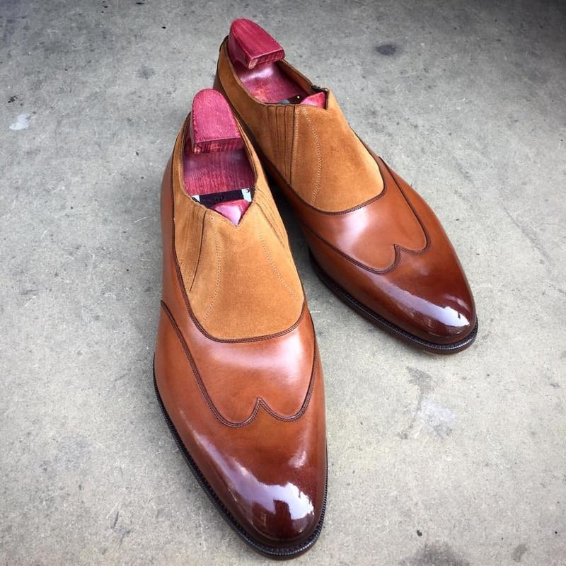 Zapatos De vestir De cuero sintético hechos a mano para Hombre, calzado...
