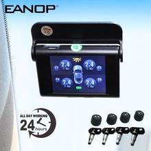EANOP S368 Solar TPMS 2.4'' TFT LCD Car Tire Pressure Monitoring System 4pcs Internal External Senso