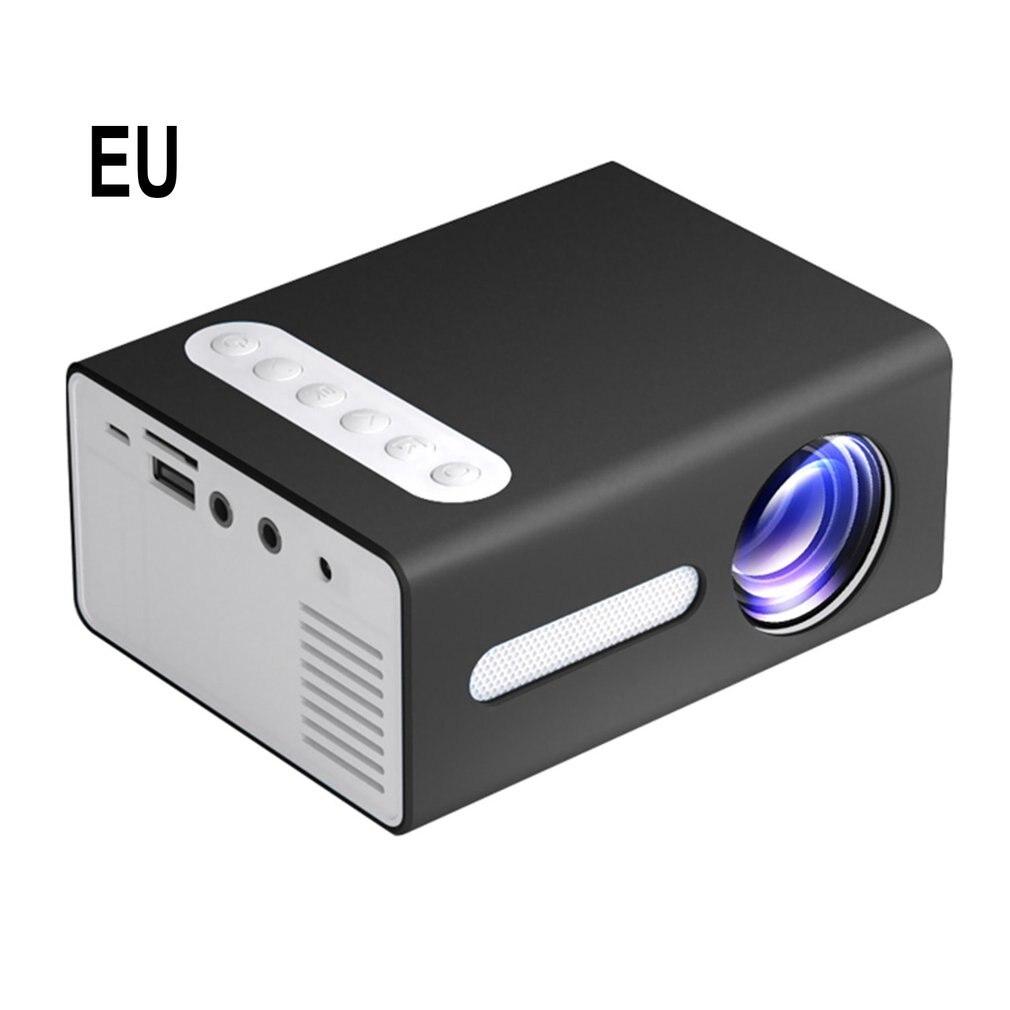 أسود T300 المحمولة العارض HD عالية الكفاءة جهاز عرض (بروجكتور) ليد متعددة واجهة المسرح المنزلي عارض فيديو
