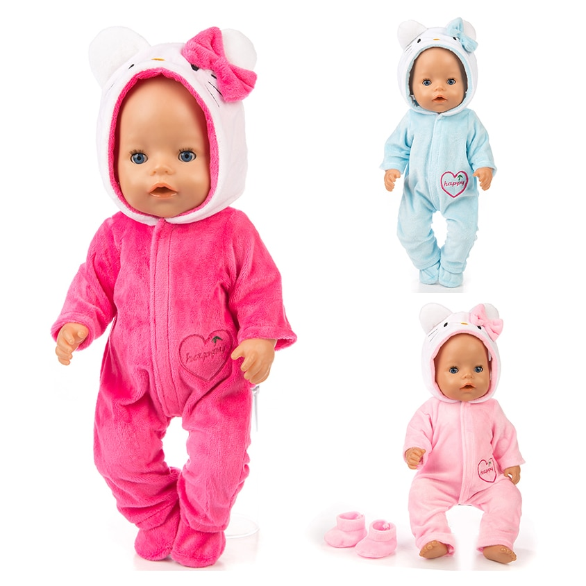 AliExpress - New warm cat jumpsuits+shoes Doll Clothes Fit For 43cm zapf baby Doll clothes reborn baby  Doll Accessories