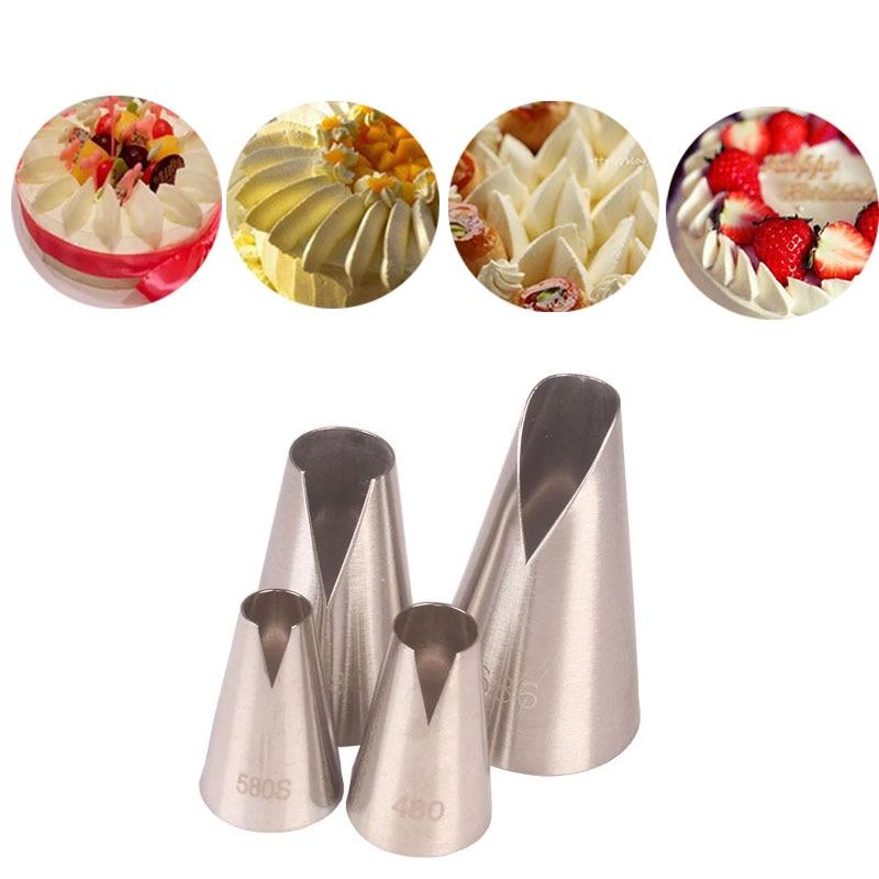 Кондитерские насадка для пирожных 480 #580S #580 #686, украшение для цветов из мастики, глазирование кондитерских изделий, инструменты для выпечки ...