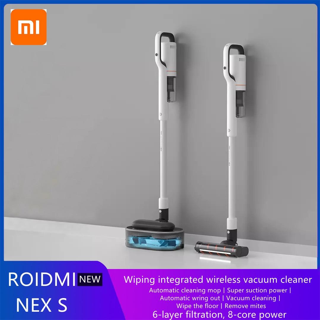 Xiaomi-aspirador de pó roidmi nex s sem fio, poderoso, inteligente, vertical, portátil, limpador, eletrodoméstico, produtos para carro