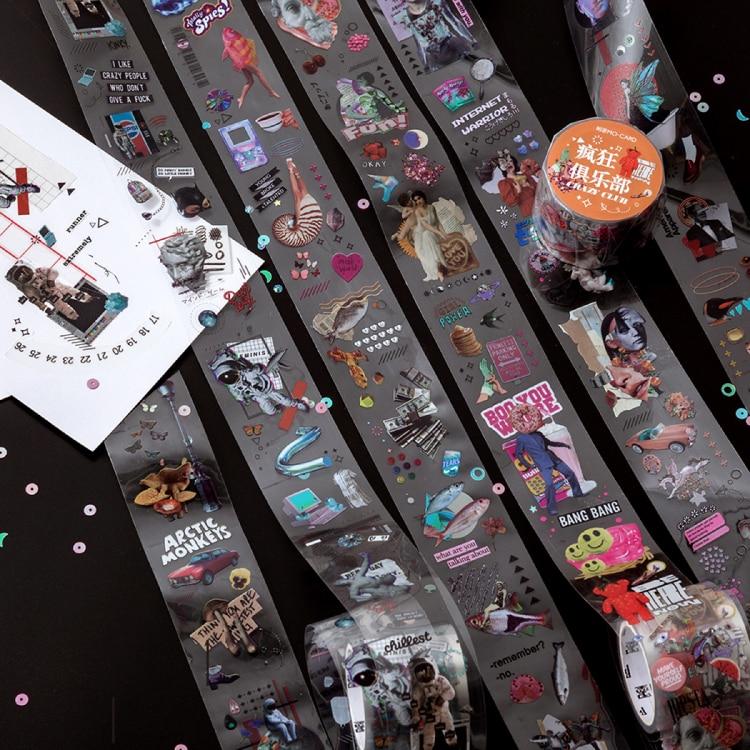 6 unids/lote maravilloso collage universo serie pegatina DIY adhesivo papel cinta decorativa cinta PET