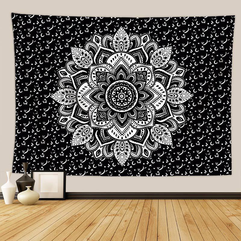Bohemia Floral Mandala Wall Hanging Tapestry India Psychedelic Carpet Wall Blanket Dorm Headboard Boho Decor Mattress Yoga Beach