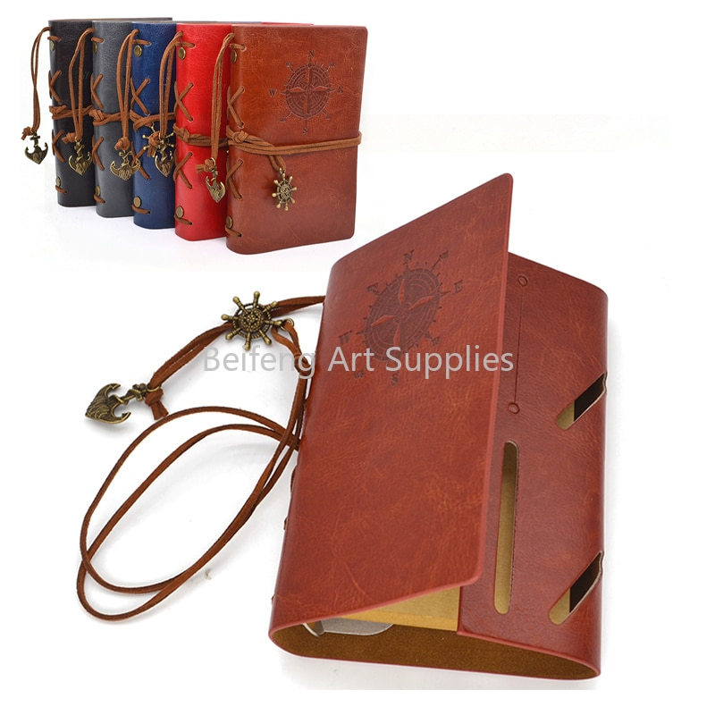 A6 notebook PU leather pirate anchor loose-leaf notepad Writing and painting handwriting business gifts school stationery