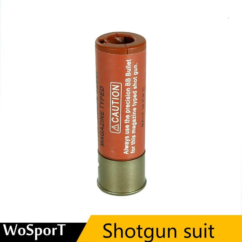 Miliary munición pistola escopeta 4 piezas ABS bolsa táctica de repuesto, bolsa Molle para cartuchos de munición
