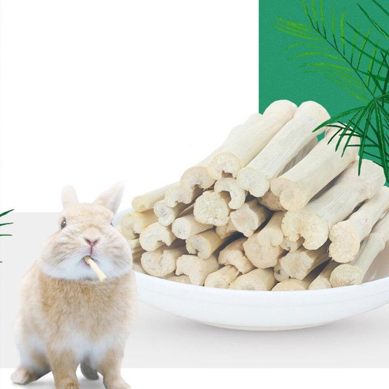 5 uds. Hamsters Sweet Bamboo Stick Branch pequeña Limpieza de mascotas dientes tratar Molar masticar juguete para Chinchillas conejo para rata, loro Snacks *