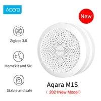 Xiaomi Aqara     Hub Zigbee M1S  avec veilleuse LED RGB  passerelle intelligente  fonctionne avec Apple Homekit  Aqara Home Mijia MI Home