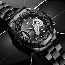Fashion Watch Men Luxury Stainless Steel Business Date Clock Waterproof Luminous Quartz Wrist Watche