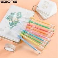 ezone 9pcs gel pen set multi color gel ink pens vintage retro marker liner stationery gift for student office school art supply