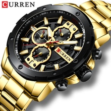 Sporty Watches Men Luxury Brand CURREN Fashion Quartz Watch with Stainless Steel Casual Business Wri
