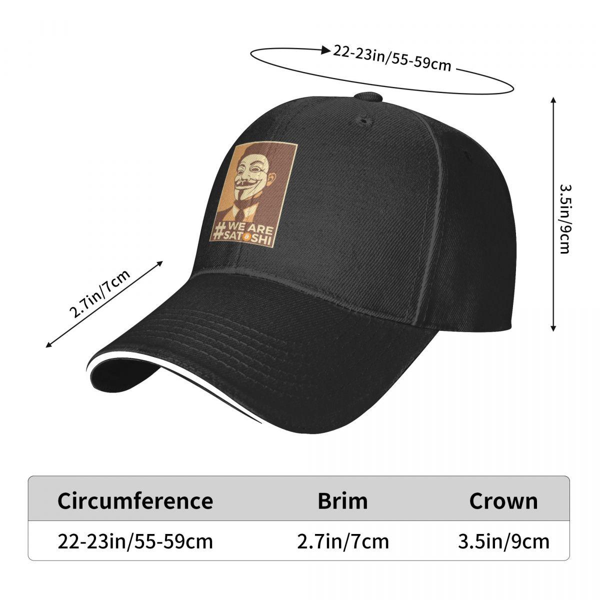 AnonymousWe являются SatoshiBitcoin Кепки для гольфа Hodl в стиле хип-хоп, винтажные мужские женские мужские кепки