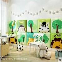 square 3d stereo cartoon wall sticker childrens room crash proof soft wall wall bedside tatami bedroom warm decoration
