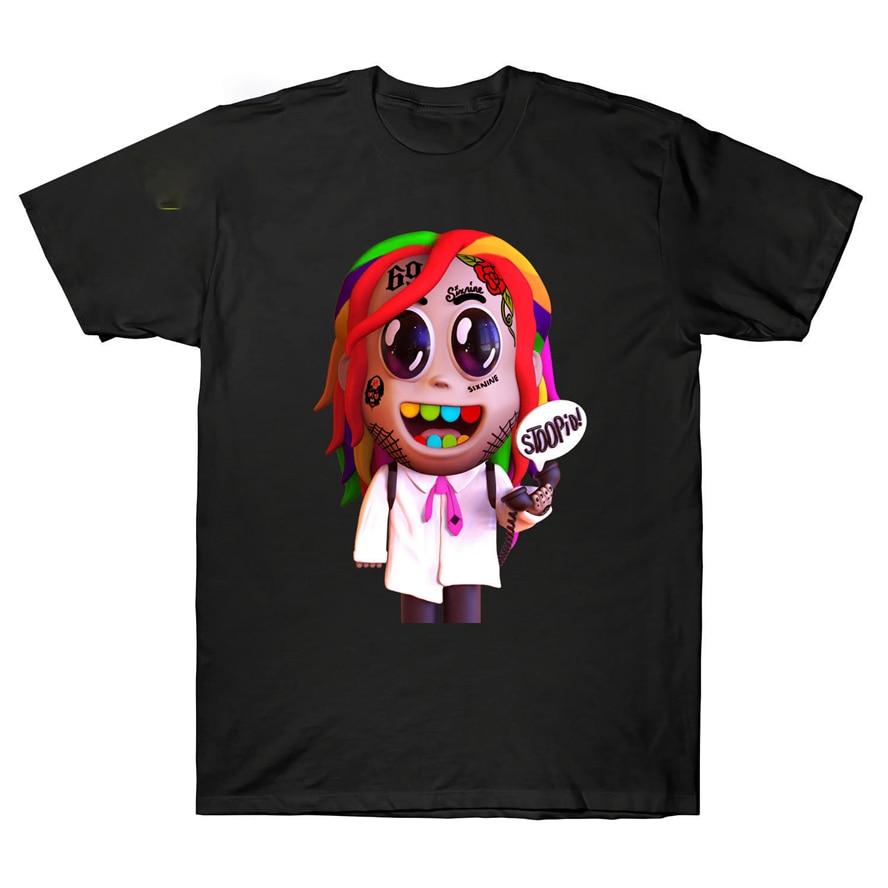 Camiseta de rapero Stoopid Dummy Boy Tekashi69 6Ix9Ine Hip Hop, Tops de algodón negro S-3Xl, nueva camiseta divertida Unisex