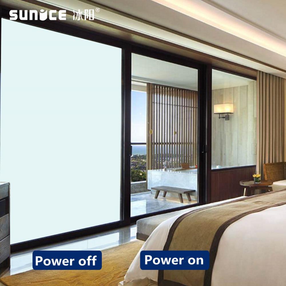 SUNICE تخصيص حجم ذاتية اللصق الذكية Pdlc فيلم تصنيع فيلم نافذة للتحويل/فيلم زجاج سحري للبناء