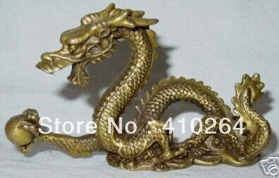 Colección estatua tallada de dragón de cobre chino