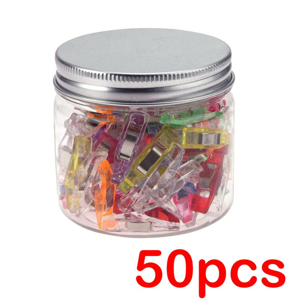 50Pcs Plastic Wonder Clips Holder for Fabric Quilting Craft DIY Patchwork Sewing Knitting Clips Home Garment Clips Home Supplies