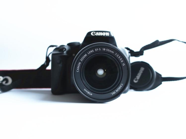 -Cámara Digital Canon EOS 450D SLR usada, con lente de 18-55mm, 12,2...