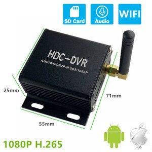HQCAM 1080P Mini wifi 1ch Channel Mobile Car AHD TVI CVI DVR Surveillance Security CCTV Recorder MDVR H265 Support 256GB SD Card