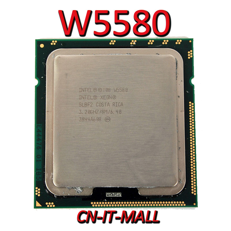 CPU Xeon W5580, 3,2 GHz, 8M, 4 núcleos, 8 hilos, procesador LGA1366
