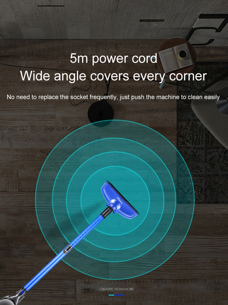 Vacuum cleaner household handheld push rod ultra-quiet carpet mite removal small powerful high power small vacuum cleaner
