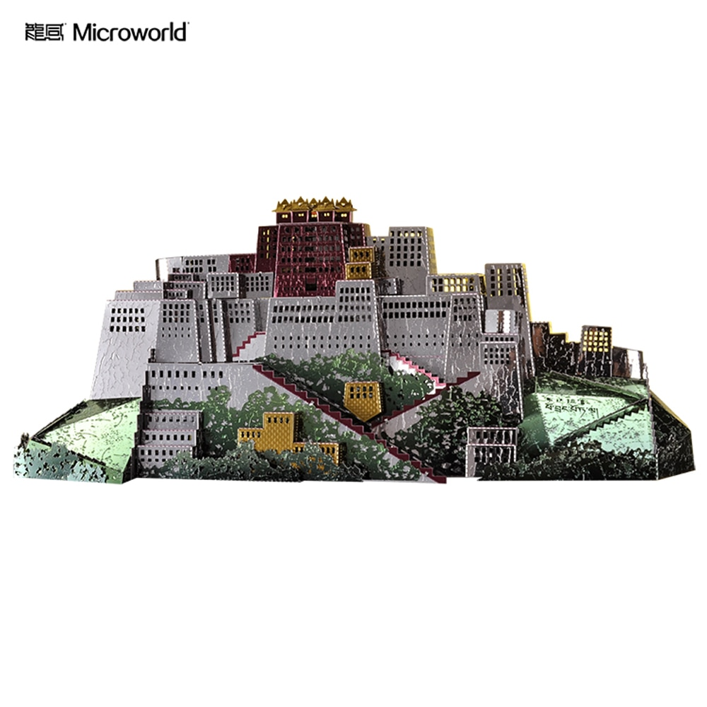 Microworld Potala Palace  3D Metal Puzzle DIY Assemble Model Kits Laser Cut Jigsaw Toys J059