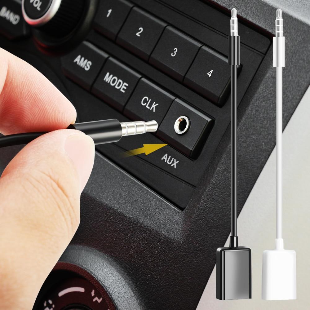 AUX Audio Plug Jack Converter Cable Cord for jeep renegade wrangler jk compass dodge journey ram 1500 for chrysler 300c