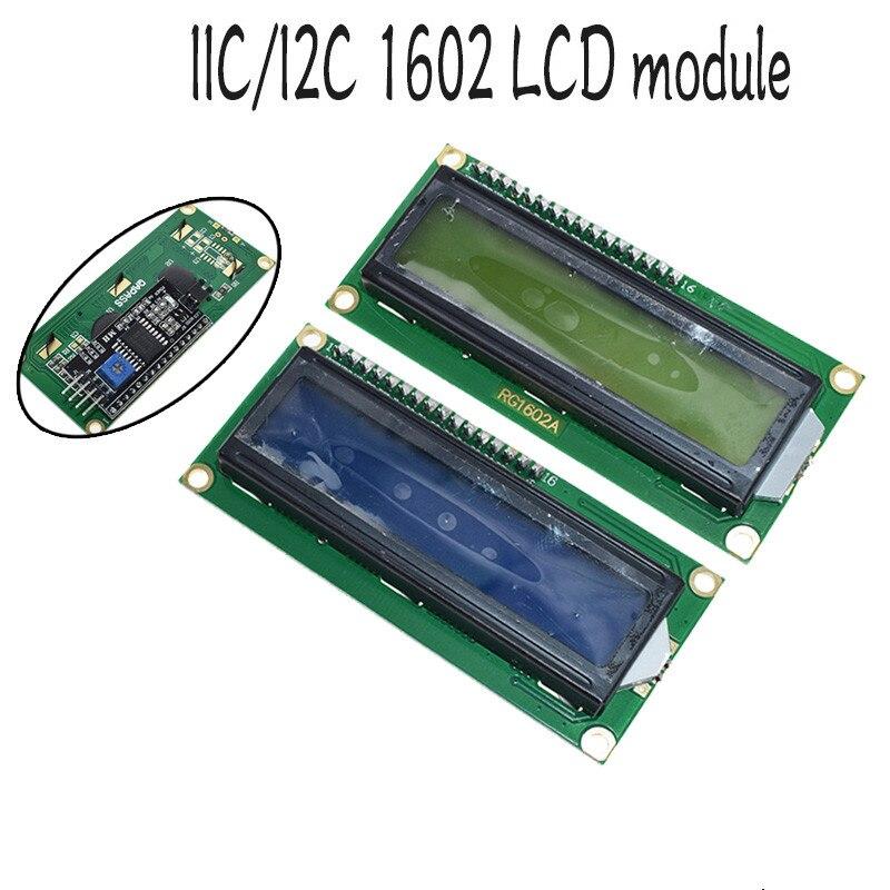 1 Uds módulo LCD pantalla azul IIC/I2C 1602 para arduino 1602 LCD UNO r3 mega2560 pantalla verde