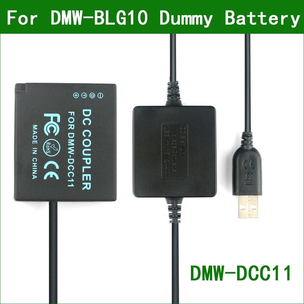 5v usb para DMW-BLG10 ble9 manequim bateria DMW-DCC11 power bank cabo usb para panasonic DC-ZS80 DC-ZS200 DC-GX9 DC-G100 DC-LX100 ii