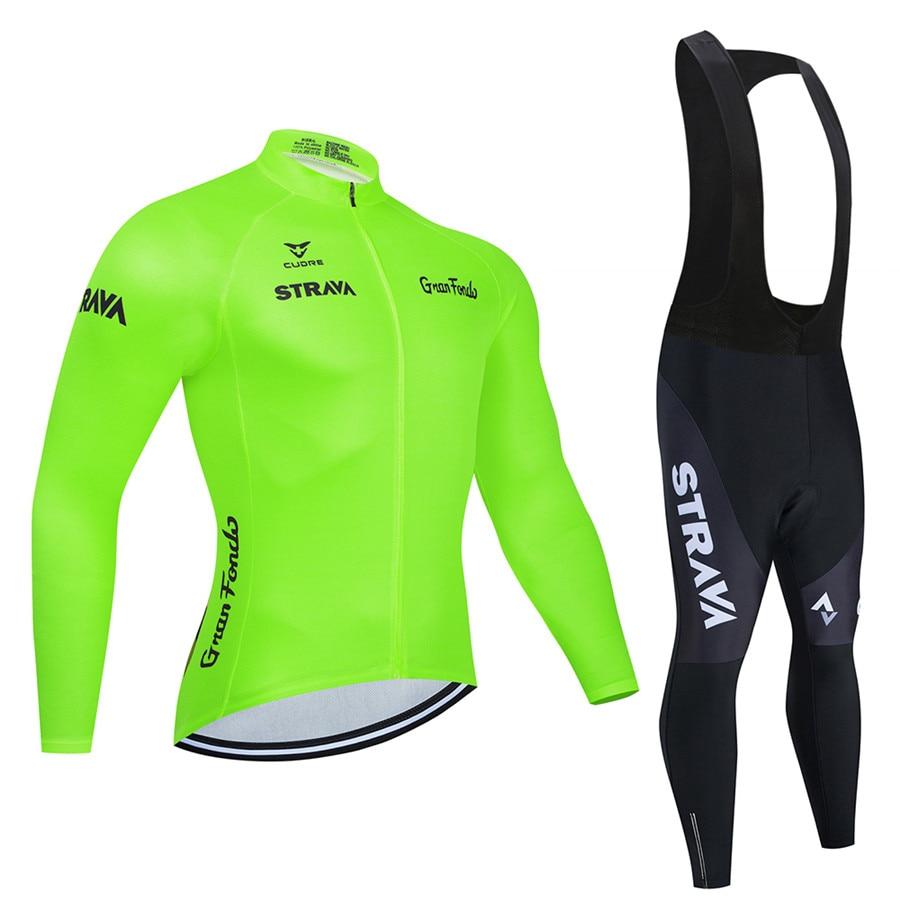 STRAVA bleu marine Pro équipe à manches longues maillots de cyclisme Ropa Ciclismo Maillot vêtements de vélo respirant vtt vélo vêtements de cyclisme