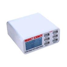 USB charge 5V 6 ports 8A USB chargeur adaptateur hub multi port USB hub avec chargeur station daccueil avec écran LCD détection automatique technologie