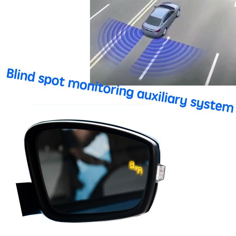 نظام BSD BSM BSA للسيارة مزود بمرآة لتحديد المناطق العمياء نظام اكتشاف الرادار الخلفي للسيارة سكودا فابيا NJ 2015 ~ 2020