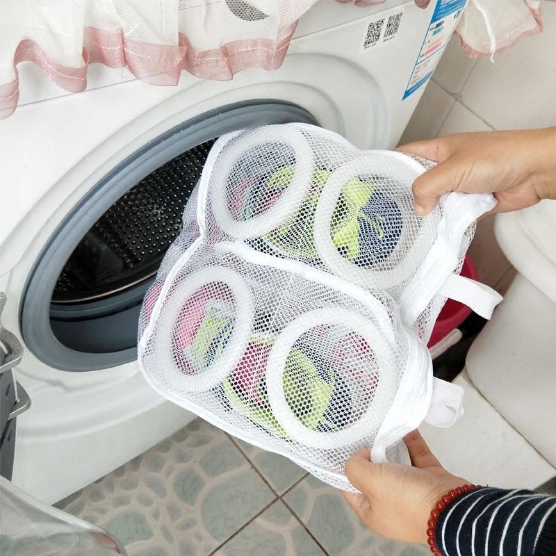 Vanzlife حقيبة أحذية حقيبة للملابس الداخلية لغسل الأحذية الرعاية حقيبة ل شبكة سلة الغسيل أكياس و ل غسالات ملابس أوتوماتيك