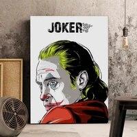 Affiche de film Joker  peinture sur toile  affiches dart murales et imprimes pour salon  images murales de maison  decor de Bar