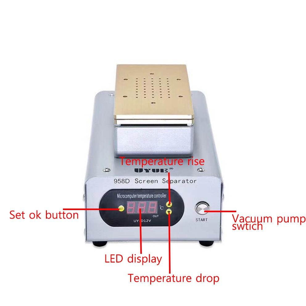 Separação de Aquecimento da Tela do Telefone Adequado para 7 Móvel Dupla Bomba Sucção Separador Uyue 958d Alta Potência Polegada