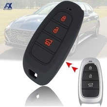 Car Remote Control Key Shell Fob Case Cover For Hyundai 2019 2020 3 Button Silicone Car Replacement