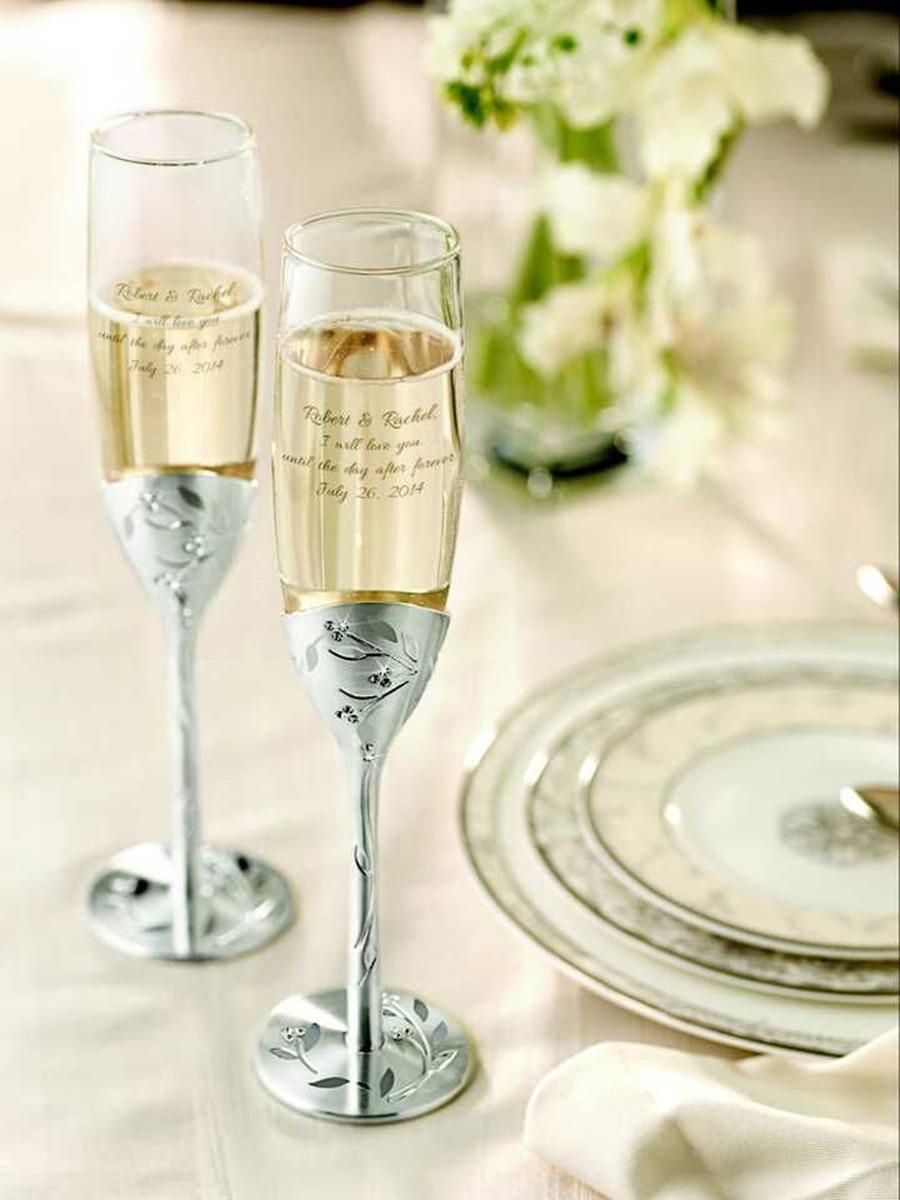 2 قطعة أوراق شخصية عزر الزفاف تحميص المزامير مجموعة ، محفورة الزجاج مزامير الشمبانيا ، هدايا حفلة مخصصة للعروس العريس
