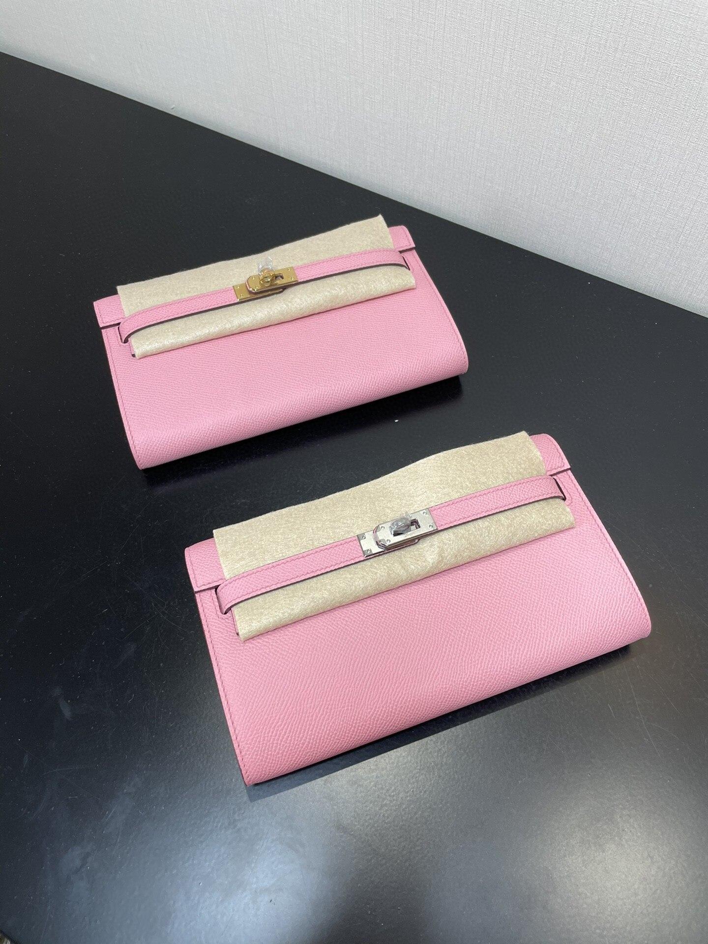 المرأة المصممين المحفظة ، العلامة التجارية Woc المحفظة ، اللون الوردي ، جلد Epsom ، جودة اليدوية ، وسرعة التسليم