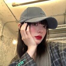 Female Peaked Ins Brand Baseball Cap Korean Fashion Summer Hat Black Ripped Sun Protection Face Slim