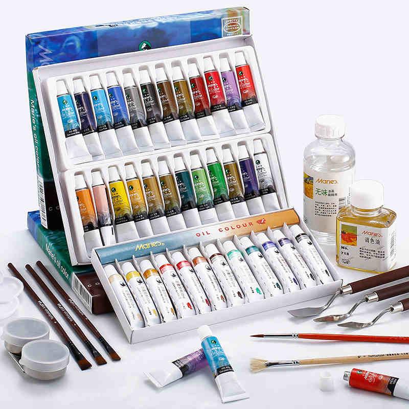 Marie es Pintura de aceite 12/18/24 colores de Pintura pigmento conjunto Oleo...