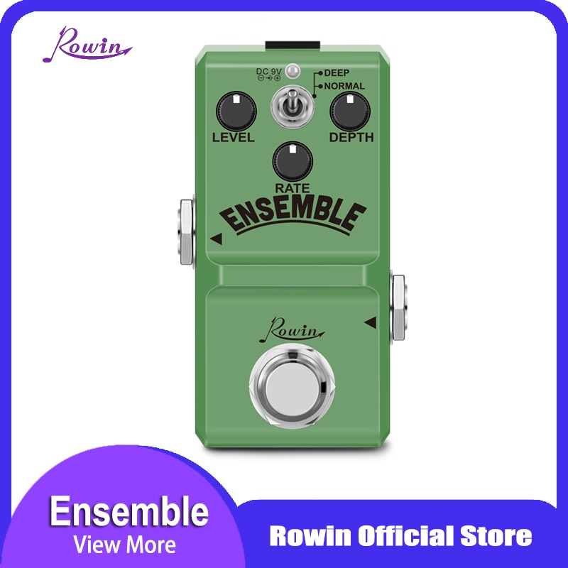 Rowin Ln-304 Ensemble Guitar Effect Pedal Classic Analog Chorus Effect Pedal True Bypass Aluminum Alloy Shell недорого