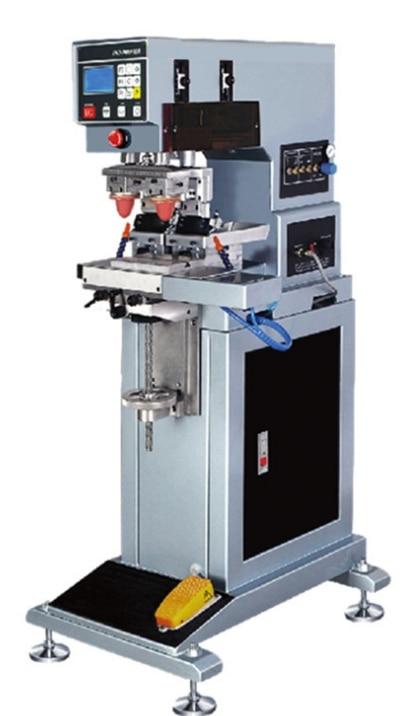 آلة طابعة لونين تعمل بالهواء, آلة طباعة تاريخ الشعار مع كوب الحبر
