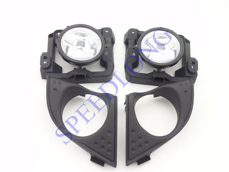 1 jeu de phares antibrouillard avec lunette   Couvre lunette, pour Honda Accord 2009-2010