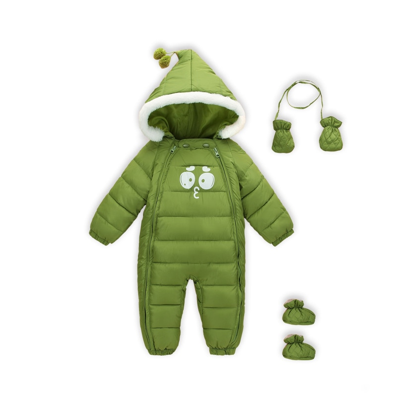 Yg Children's New Thickened Warm Baby One-piece Clothes 0-2 Year Old Baby Ha Clothes Climbing Clothe