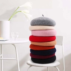 Autumn and winter new female wool winter hat wild wool beret student literary artist hat pumpkin hat wholesale S88