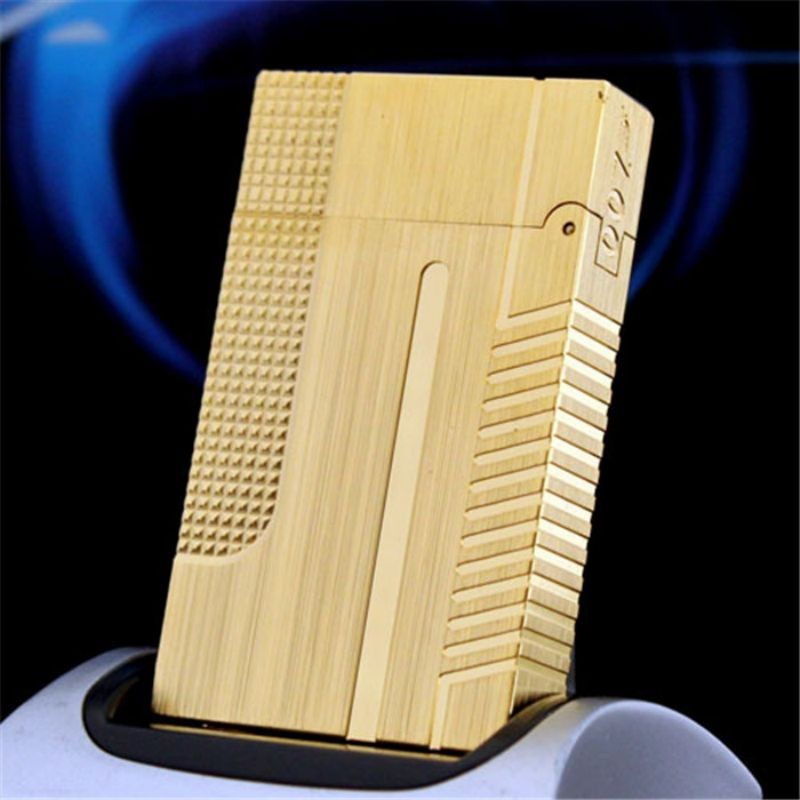 100% brand new made in China retro original cute DuPont bright sound lighter windproof cigarette lighter enlarge