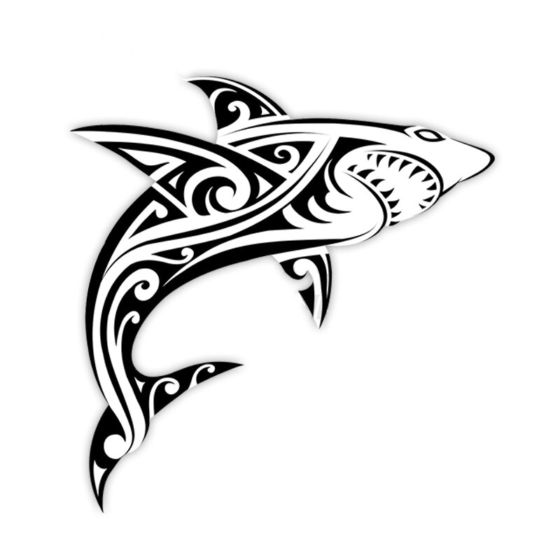 Personalized Shark Car Sticker Accessories Car Styling Decal Vinyl Car Window Cover Scratches Waterp