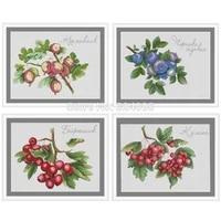 bilberry blueberry hawthorn patterns counted cross stitch 11ct 14ct 18ct diy chinese cross stitch kits embroidery needlework set