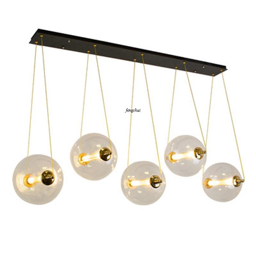 Modern LED Glass Bubble Ball Pendant Lights Lighting Nordic Cafe Indoor Living Room Restaurant Bedroom Bar Decor Light Fixtures